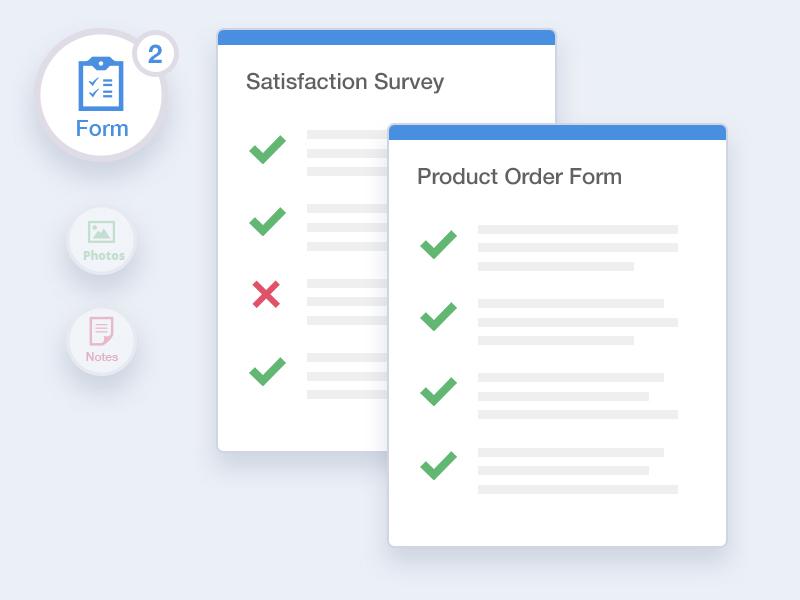 Ekmob yönetim panelinde form, anket ve denetim formu gösterimi