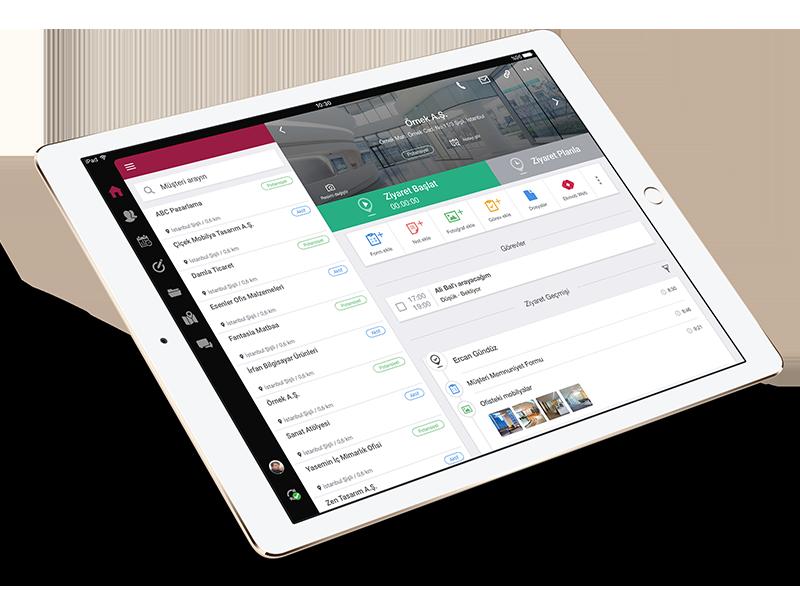 Ekmob mobil uygulamasında müşteri detay ekranı